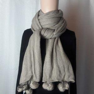 NEW Oversized gray(mocha) knit scarf